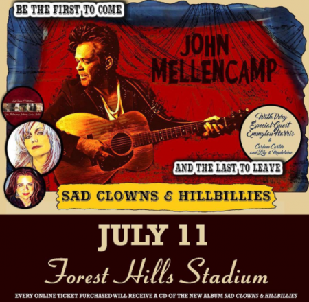 John Mellencamp will play Forest Hills Stadium on July 11! Get tickets on AXS