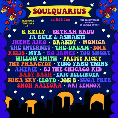 Soulquarius is bringing '90s nostalgia to The Observatory Grounds on Sat. Feb 18, rain or shine. Set times below.