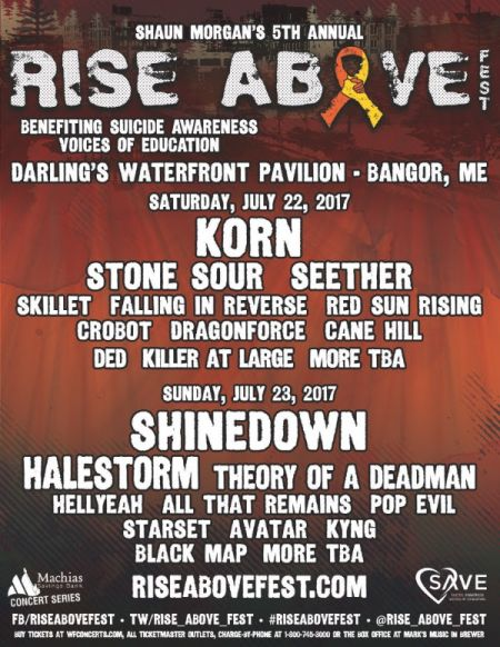Seether announces fifth annual 'Rise Above Fest'