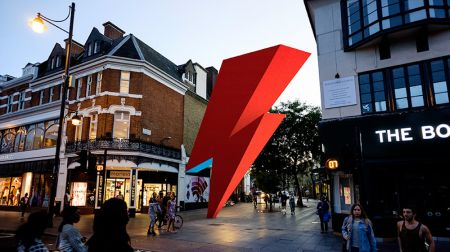 The neighborhood of Brixton in London may be getting an enormous lightning bolt in honor of the late David Bowie.