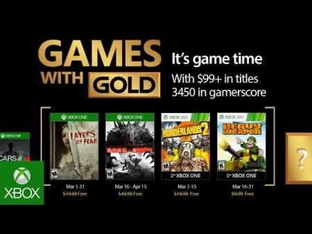March Xbox games for Gold Members have been announced