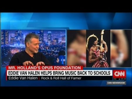 Eddie Van Halen helps bring music back to schools by donating 75 guitars from his collection