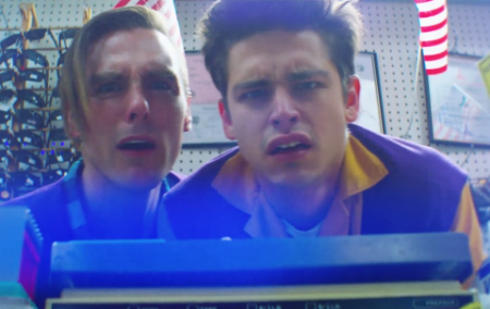 """Rock band Dreamers enjoy the silliness of working at a late night convenience store in their new music video for """"Sweet Disaster."""""""