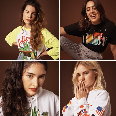 Rock group Hinds revealed their new fashion collection for Urban Outfitters on Friday.