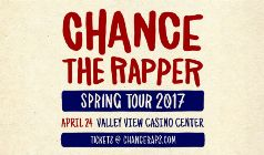 Chance The Rapper tickets at Valley View Casino Center in San Diego