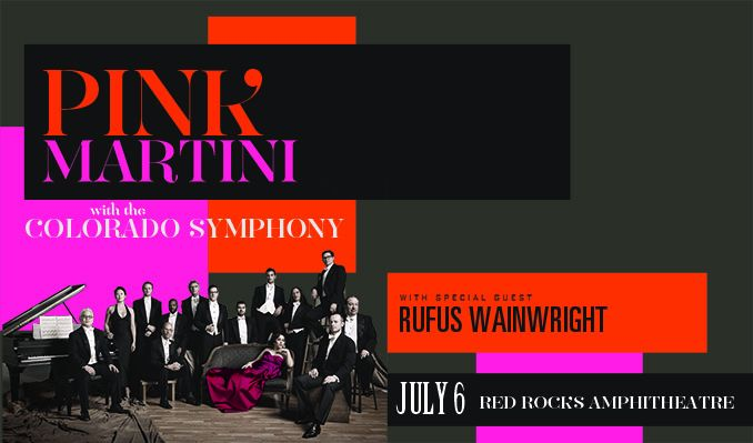 Pink Martini with The Colorado Symphony tickets at Red Rocks Amphitheatre in Morrison