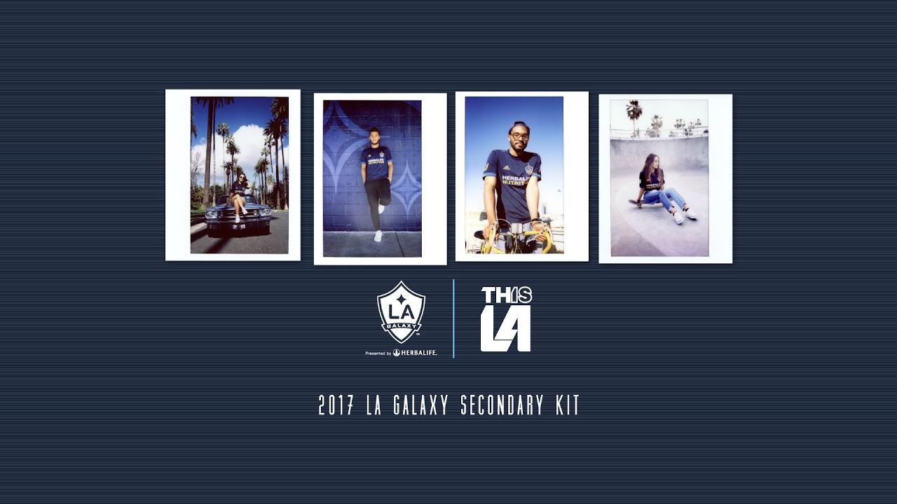 7d5cfe98e LA Galaxy unveil their new dark blue away kit for the 2017 MLS season