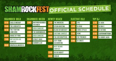ShamrockFest 2017 announces official set times
