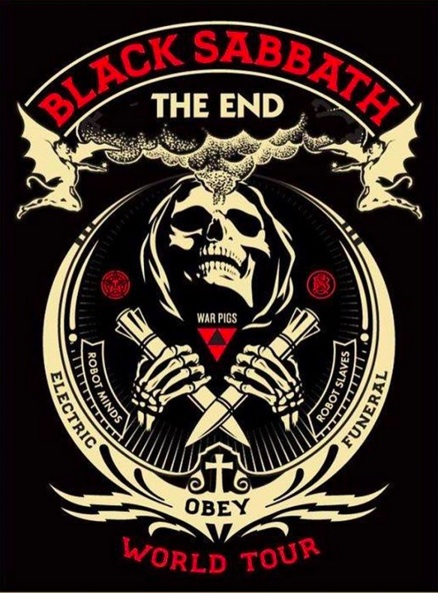 "Artwork for Sabbath's ""The End"" tour."