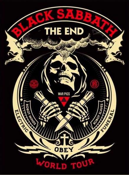 "Artwork for Sabbath's ""The End"" tour."