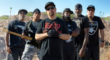 Body Count guitarist and founder Ernie C. (second from left) discussed with AXS on Wednesday the March 31 release of new album Bloodlust and