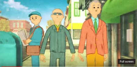 Animated Paul Shaffer and Bill Murray.