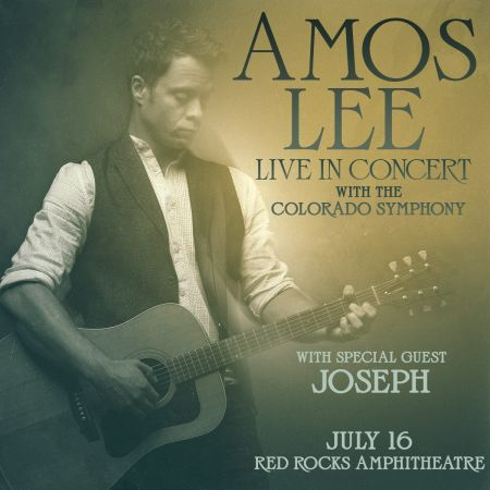 Amos Lee comes to Red Rocks with the Colorado Symphony July 16.