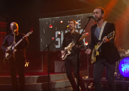 The Shins perform on The Late Show with Stephen Colbert on Tuesday.