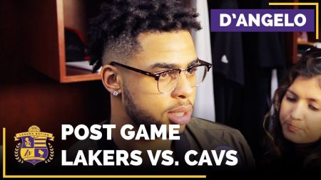Kyrie Irving on Lakers guard D'Angelo Russell: 'He's a great young player'