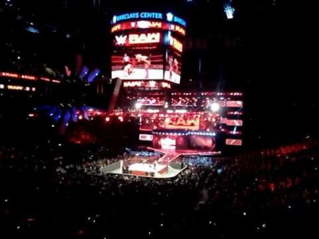Fans chant for Paige at WWE Monday Night Raw in Brooklyn