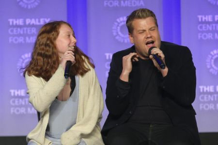 HOLLYWOOD, CA - MARCH 22: Host and Executive Producer James Corden and audience at PaleyFest LA 2017: An Evening of Laughs with James Corden