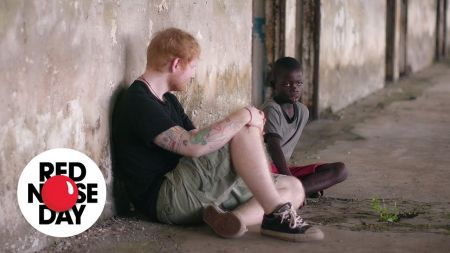 Watch: Ed Sheeran meets a homeless boy in Liberia, then helps him and his friends for Comic Relief's Red Nose Day