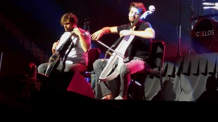 2Cellos performing at the Vivint Center in Salt Lake City, UT