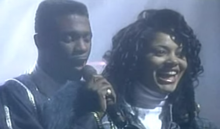 A lucky lady in Keith Sweat's arms