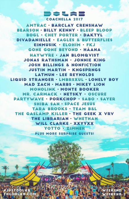 DoLab announces lineup for stage at Coachella