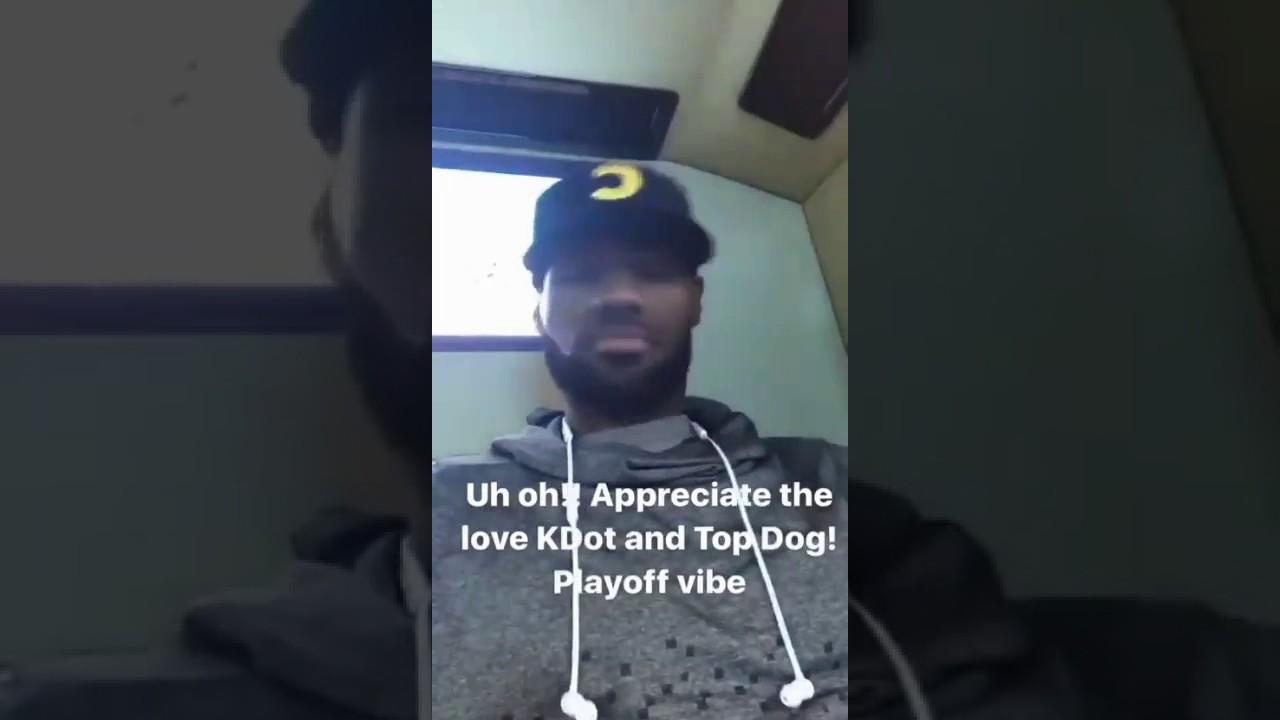 831d3a82a4db Watch Lebron James jam out to Kendrick Lamar s new album  DAMN.  - AXS