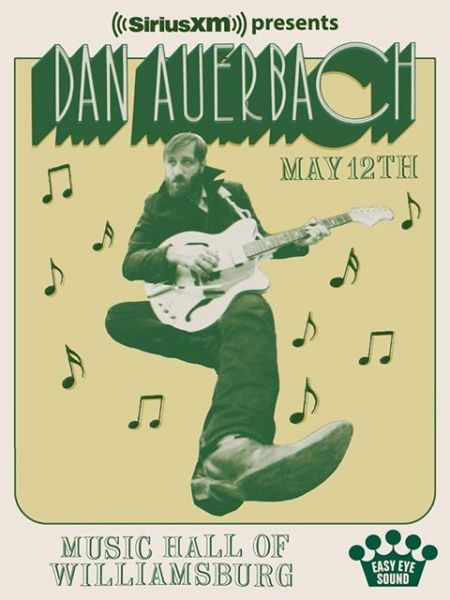 Dan Auerbach will preview his upcoming solo album with a show at Music Hall of Williamsburg on May 12.