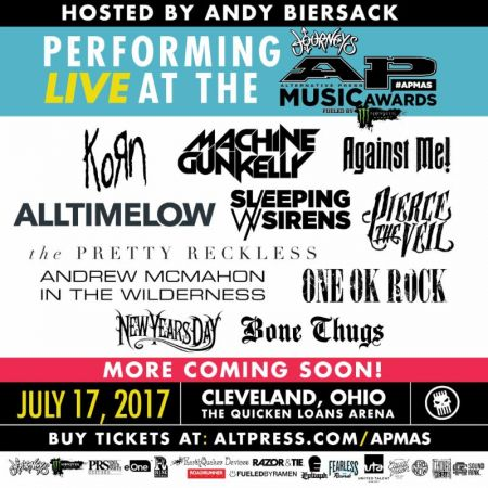 Korn, MGK, Pretty Reckless set for 2017 APMAs