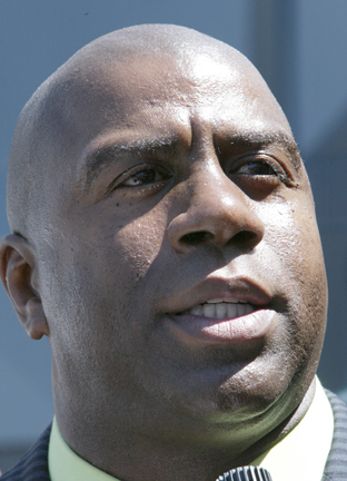 Magic Johnson hints at the Los Angeles Lakers pursuing a superstar.