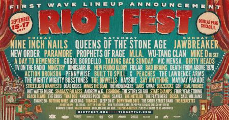 2017 Riot Fest headliners: Nine Inch Nails, Queens of the Stone Age and Jawbreaker