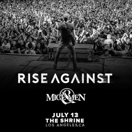 Rise Against will close out their 2017 North American tour with a show at theShrine Auditorium & Expo Hall on July 13.
