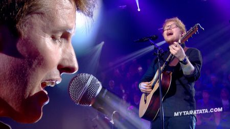 Watch: Ed Sheeran and James Blunt smash Elton John 'Sacrifice' duet for French TV show