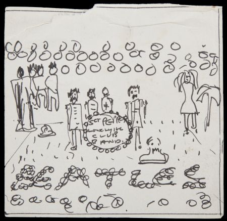 This early sketch for The Beatles' Sgt. Pepper's Lonely Hearts Club Band album is to be auctioned in May.