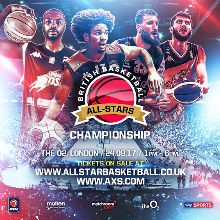 British Basketball All-Stars Championship tickets at The O2 in London