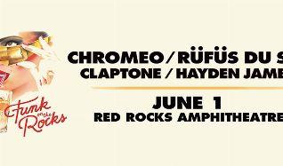 Chromeo, RÜFÜS DU SOL tickets at Red Rocks Amphitheatre in Morrison
