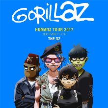 Gorillaz at The O2 tickets