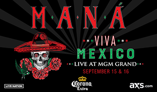 Maná tickets at MGM Grand Garden Arena in Las Vegas