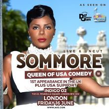 US Queen of Comedy Sommore tickets at indigo at The O2 in London