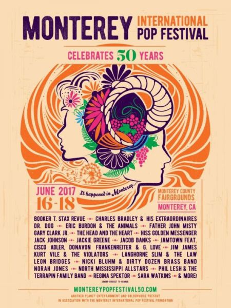 TheMonterey Pop Festival will celebrate its 50th birthday this June with appearances byPhil Lesh, Norah Jones, Gary Clark Jr and more.