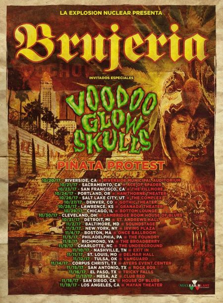 Brujeria announce Winter tour with Voodoo Glowskulls, tickets on sale now.