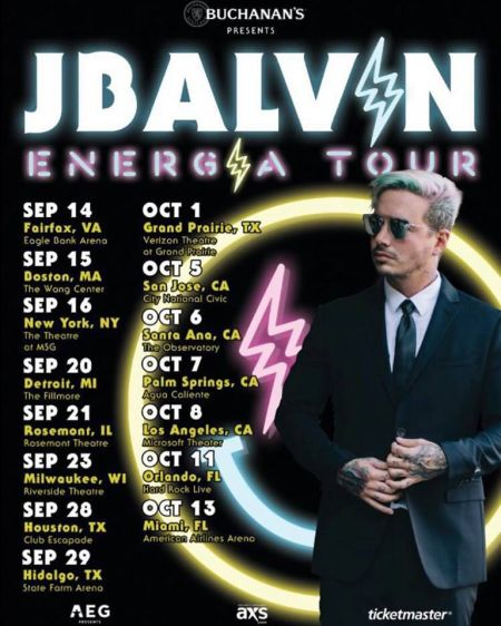 Colombian Reggaeton singer J Balvin announced his upcoming Energía fall tour on Friday.