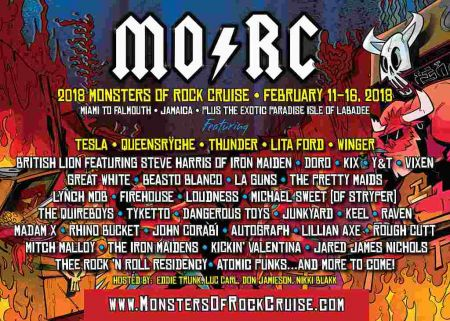 Monsters of Rock Cruise 2018 poster