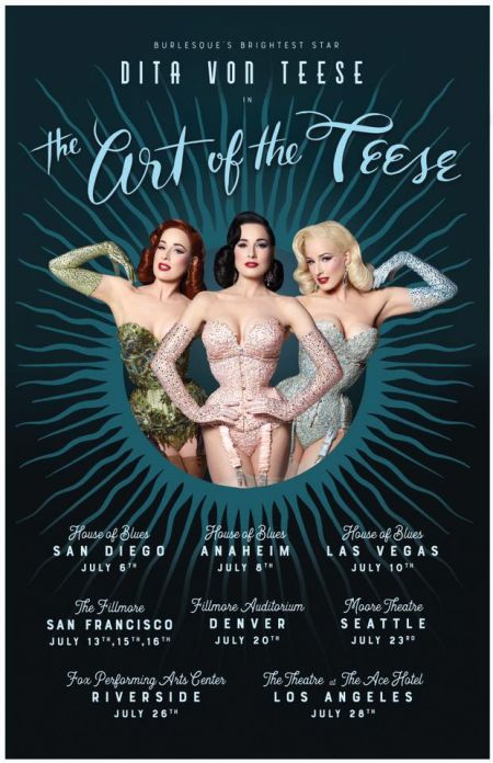 "Dita Von Teese's ""Art of the Tease"" burlesque show will kick off its run of west coast U.S. dates starting in early July."