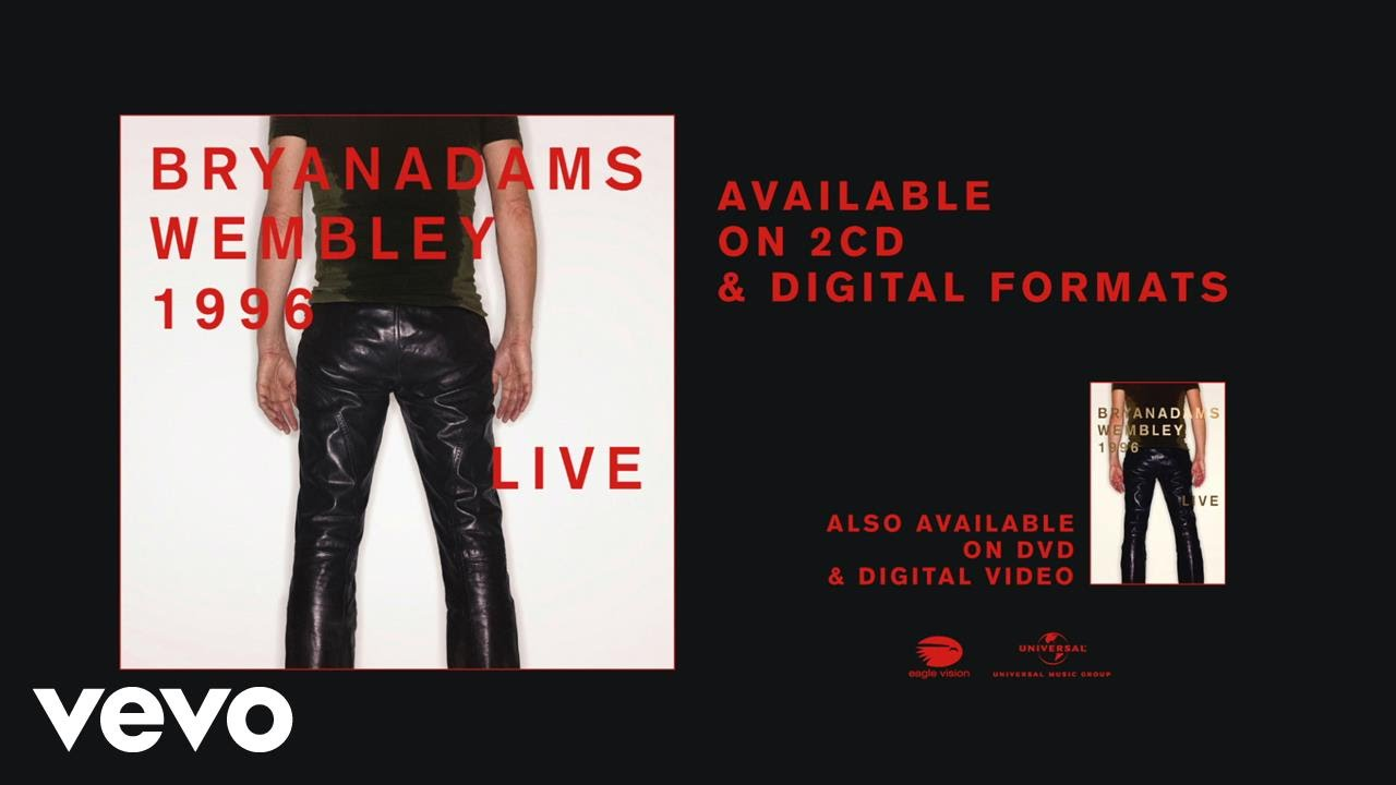 Bryan Adams announces upcoming archive release 'Wembley Live 1996' on CD