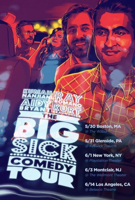 Stars of the upcoming film, The Big Sick, will be performing in select cities across America later this month for a run a comedy shows leadi