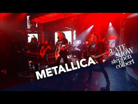 Watch: Metallica performs on The Late Show with Stephen Colbert for the first time