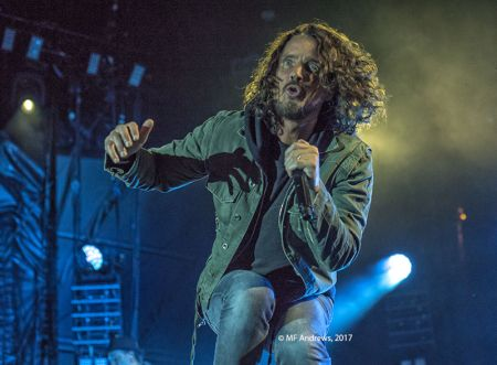 Chris Cornell performing with Soundgarden at the Beale Street Music Festival on May 7
