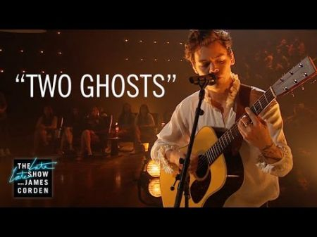 Watch: Harry Styles strips it down in wistful, acoustic 'Two Ghosts' on 'The Late Late Show'