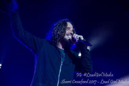 Chris Cornell performs with Soundgarden as the headliners on Day 1 of Carolina Rebellion 2017, on May 5. The 52-year-old singer died May 17