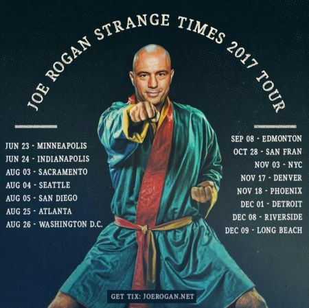 "Comedian Joe Rogan has added a second, late-night performance at Denver's Bellco Theatre on Nov. 17, as part of his upcoming ""Strange Times"""